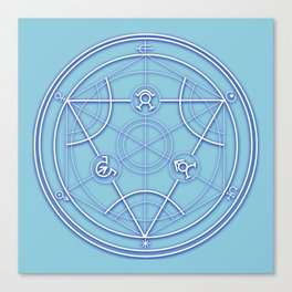 Transmutation Circle Canvas Print
