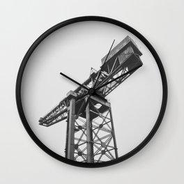 Imposing Docklands Crane Wall Clock