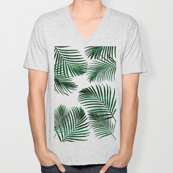 Tropical Palm Leaf Unisex V-Neck