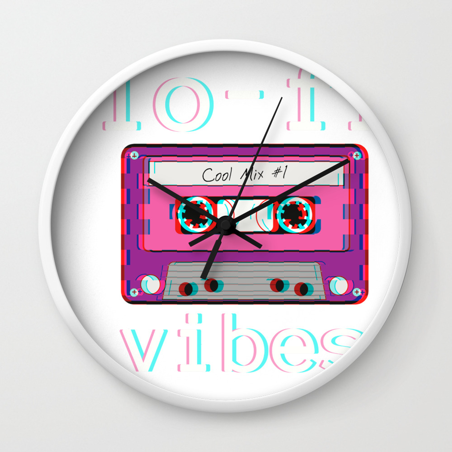 Low Fidelity Music Product Aesthetic Tape Lo Fi Vibes Design Wall Clock By Dc Designstudio Society6