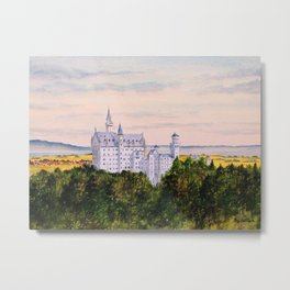 Neuschwanstein Castle Bavaria Germany Metal Print