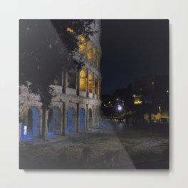 Colosseo di notte Metal Print