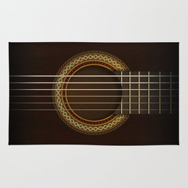 Full Guitar Black Rug
