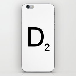 Letter D - Custom Scrabble Letter Wall Art - Scrabble D iPhone Skin