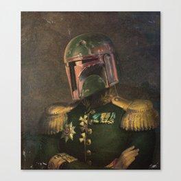 Boba Fett General Portrait Painting | Fan Art Canvas Print