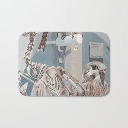 Peregrine Falcon and Kestrels Bath Mat