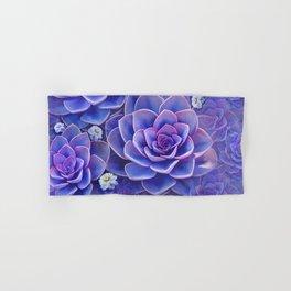 """""""Bouquet of pastel violet exotic succulents"""" Hand & Bath Towel"""