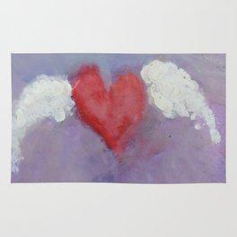 flying heart encaustic Rug