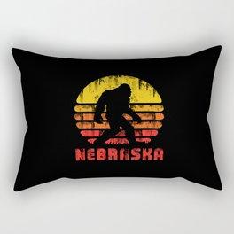 Bigfoot Nebraska State Rectangular Pillow