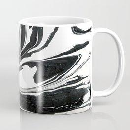 Black ink marble Coffee Mug