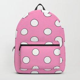 Pink Pastel Polka Dots Backpack