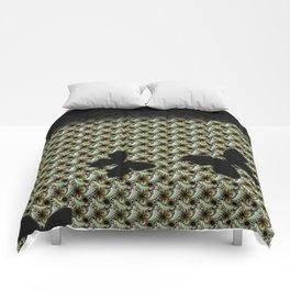 black, butterfly, LEGGINGS, new design by Alice Kelly Comforters