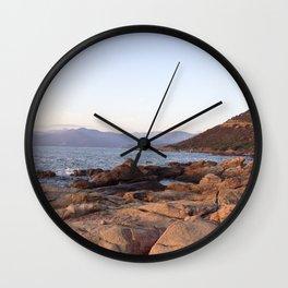 Sunrise in Corsica Wall Clock