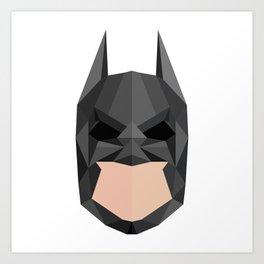 Geometric Bat Man Art Print