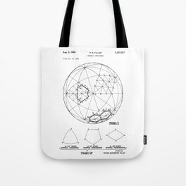 Buckminster Fuller 1961 Geodesic Structures Patent Tote Bag