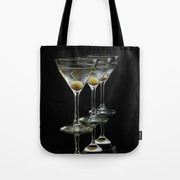 Three Martini's and three olives.  Tote Bag