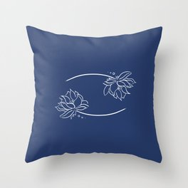 Cancer's Water Lilies Throw Pillow