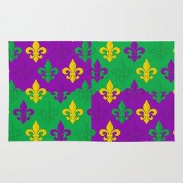 Mardi Gras Fleur-de-Lis Pattern Rug