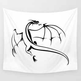 A simple flying dragon Wall Tapestry