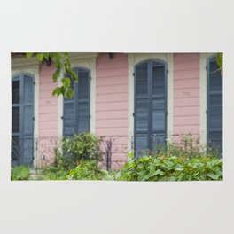 New Orleans Pink Front Porch Rug