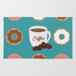 Coffee and Donuts Rug
