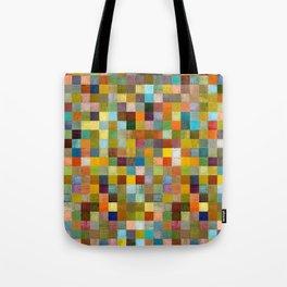 Squares in Rustic Form Tote Bag