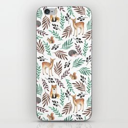 Cute forest. Watercolor iPhone Skin