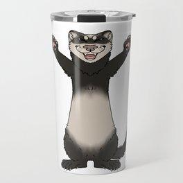 Happy Ferret Travel Mug