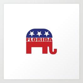 Florida Republican Elephant Art Print