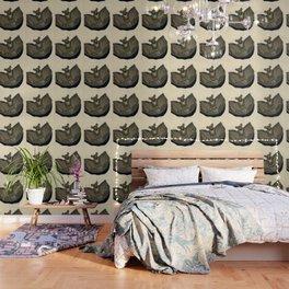 Metal Bat Tray in Gouache Wallpaper