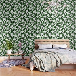 Simply Tropical Palm Leaves in Jungle Green Wallpaper