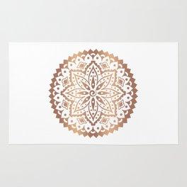 Dark copper tones mandala design Rug