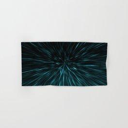 Blue and black Hypergalaxy Hand & Bath Towel