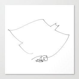 Little boy, big dreams Canvas Print