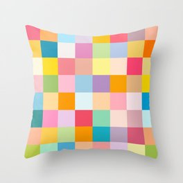 Candy colors Throw Pillow