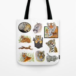 Big Cat Sticker Pack 1 Tote Bag