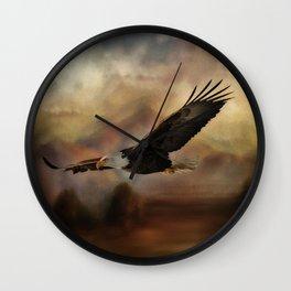 Eagle Flying Free Wall Clock