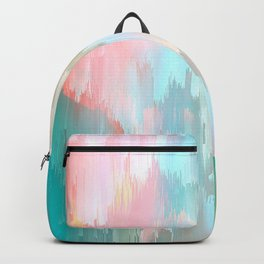 Candy Rainbow Glitch Fall #abstractart Backpack