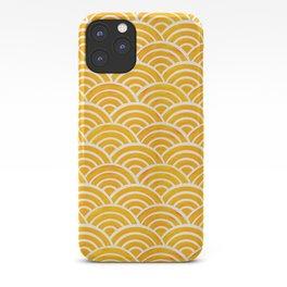 Japanese Seigaiha Wave – Marigold Palette iPhone Case
