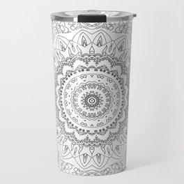 MOONCHILD MANDALA BLACK AND WHITE Travel Mug