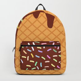 waffles with flowing chocolate sauce and sprinkles Backpack