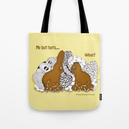 Chocolate Easter Bunny Problems Children Illustrations Tote Bag