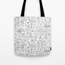 Physics Equations on Whiteboard Tote Bag