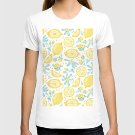 Lemon pattern White T-shirt