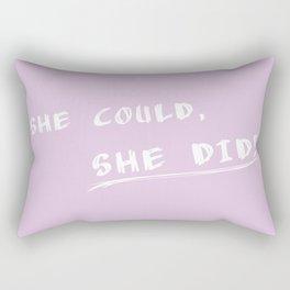 Common sense (pink) - voting result Rectangular Pillow