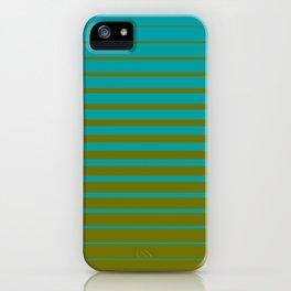 gradient stripes aqua olive iPhone Case