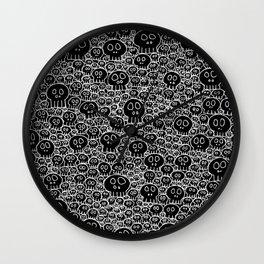 Calaveras (black background) Wall Clock