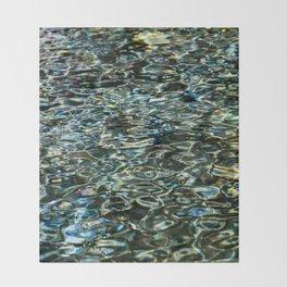 Mercurial Prismatic Waves Throw Blanket