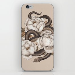 Snake and Peonies iPhone Skin