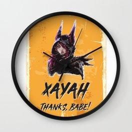 XAYAH - Thanks Babe Wall Clock